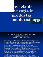 Precizia de Fabricaţie În Produc