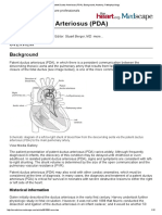 Patent Ductus Arteriosus PDA Background Anatomy Pathophysiology