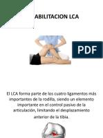 Rehabilitacion LCA Lic Fernandez