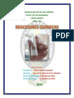 Quimica Inorganica (Qmc-104) Lab. Reacciones Quimicas