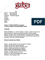 Grease Scripte français