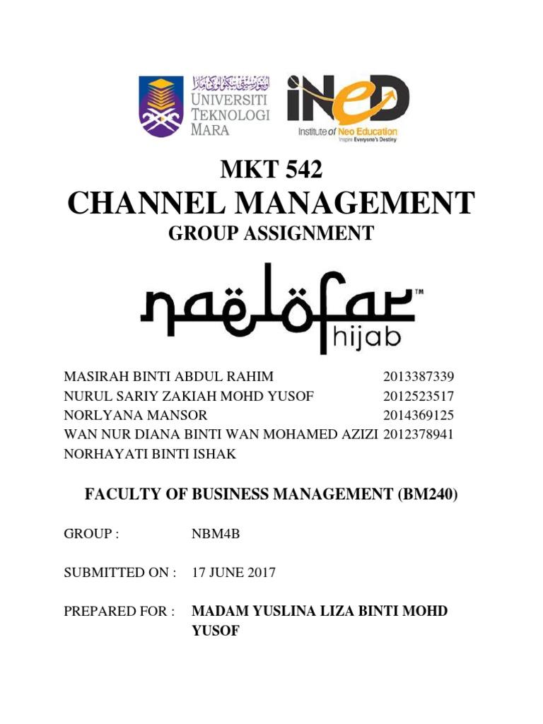 Business Model Canvas Hijab