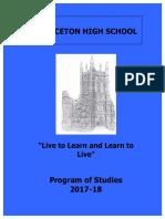 Program of Studies 2017-2018