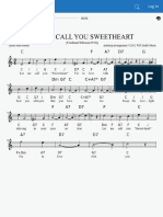 Let Me Call You Sweetheart (Chorus in c)