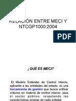 Relación Meci y Ntcgp1000 2004