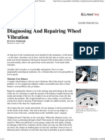 Popular Mechanics - Diagnosing and Repairing Wheel Vibration