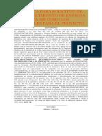 Autentica Para Solicitud de Restablecimiento de Energia Electrica Asi Como Los Materiales Para El Proyecto