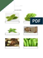 latihan namakan sayur