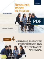 HUMAN RESOURCE MANAGEMENT CHAPTER 4 MANAGING EMPLOYEE PERFORMANCE AND PERFORMANCE APPRAISAL