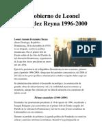 El Gobierno de Leonel Fernández Reyna 1996