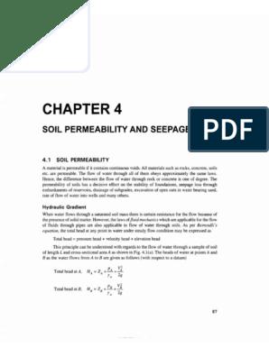 Chapter 4 Soil Permeability and Seepage   Soil Mechanics   Porosity