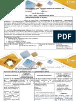 Guía de Actividades y Rubrica de Evaluación -Fase 4 Experimentación Activa
