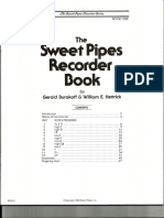 The Sweet Pipes Recorder Book 1-Soprano