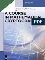 A Course in Mathematical Cryptography - Walter de Gruyter (2015) - (de Gruyter Graduate) Gilbert Baumslag, Benjamin Fine, Martin Kreuzer, Gerhard Rosenberger