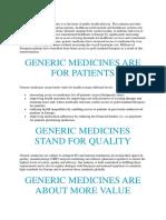 Generic Drugs Haad
