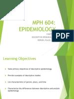 Week 4 Chapter 4 Lecture Descriptive Epidemiology