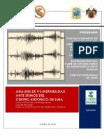Análisis de Vulnerabilidad Ante Sismos Del Centro Histórico Lima-COOPI