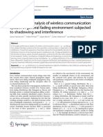 Performance of Wireless Comm System