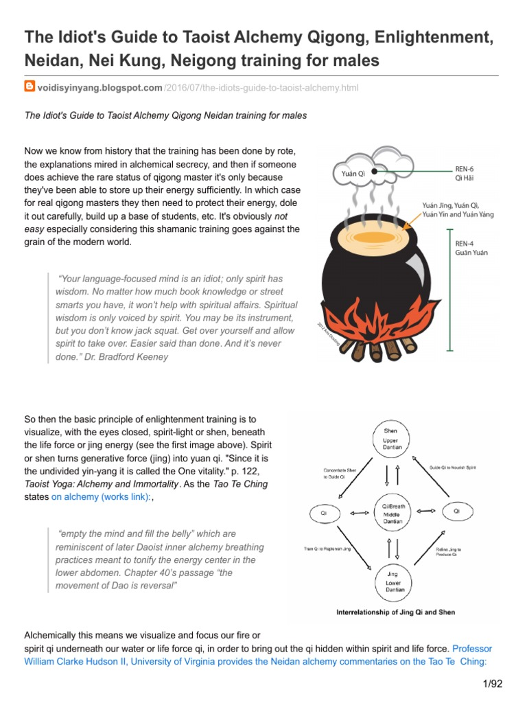 Idiot s Guide to Taoist Alchemy | Epinephrine | Neidan