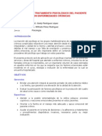 Diagnostico y Tratamiento Psicologico Del Paciente Con Enfermedades Cronicas