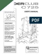 Weider C725 Manual