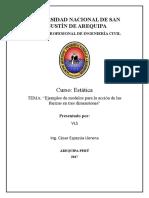 Ejemplos de Modelos Para La Acción de Las Fuerzas en Tres Dimensiones