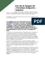 Une Histoire de La Langue de Bois de Chrisitan Delporte