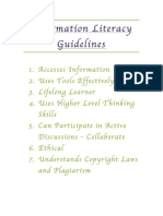 Information Literacy Guidelines