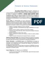 Modelo de Contrato, Servicios Profesionales