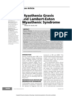 Myasthenia Gravis and Lambert-Eaton Myasthenic Syndrome - Continuum December 2016