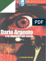 Dario Argento o La Alquimia Del Miedo Salvador Bernabe