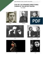 Las Técnicas de Los Grandes Directores Aplicadas Al Taller de Teatro Paco Tejedo Brecht