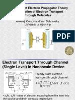 Electron Transport Through Molecules Kletsov Sh