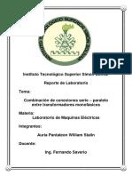 Combinación de Conexiones Serie – Paralelo Entre Transformadores Monofásicos