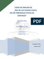 Estudio Trayectorias Causas Civiles en Tribunales Civiles Santiago