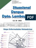 Dengue x Distritos 2016 - SE32