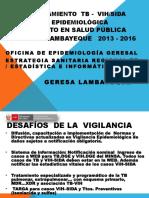 TB y VIH-SIDA Lambayeque Logros 2013-2016