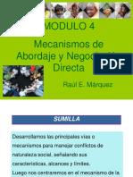 Mecanismos de Abordaje y Negociacion Directa