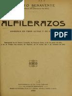 Jacinto Benavente - Alfilerazos, Facsimil 1925