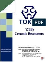 Ceramic Resonator Ztb