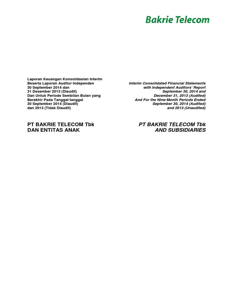 Laporan Keuangan Interim Q3 2014 Pdf