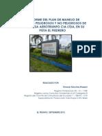 Informe Del Plan de Manejo de Deschos Aerotriunfo