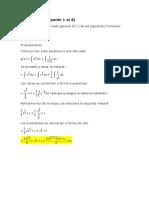 Ejercicios Calculo Integral Primera Parte