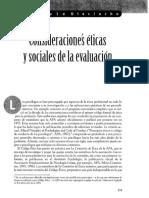 Consideraciones Eticas y Sociales de La Evaluación