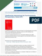 OPS OMS _ Clasificación de Funcionamiento y Discapacidad