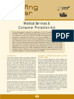 Briefing Paper11-Medical Services and Consumer Protection Act