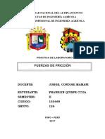 FUERZA Y FRICCIÓN UNA PUNO