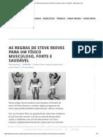 As Regras de Steve Reeves Para Um Físico Musculoso, Forte e Saudável - Musculacao