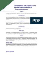 NOR_002_99 Norma Para La Autorizacion y Control de Establecimientos Fijos de Alimentos Preparados