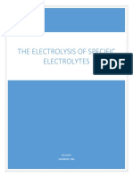 A chemistry electrolysis project